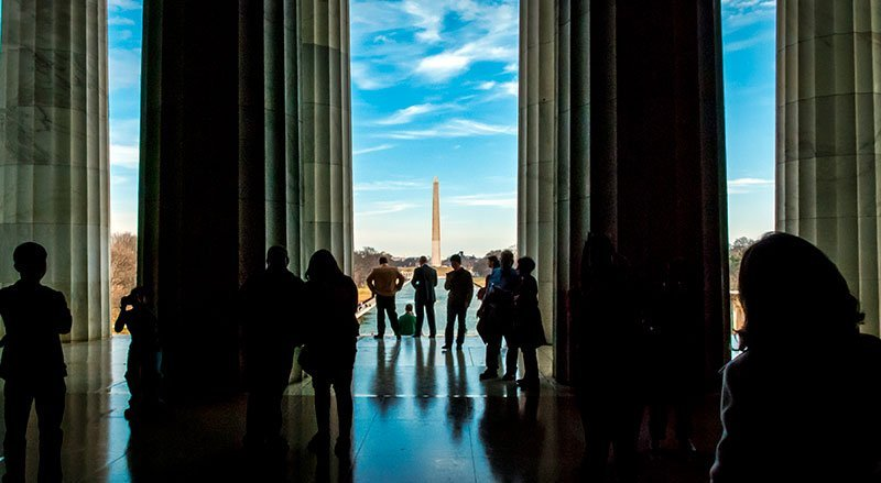 Washington DC Monuments and Memorials- Lincoln Memorial