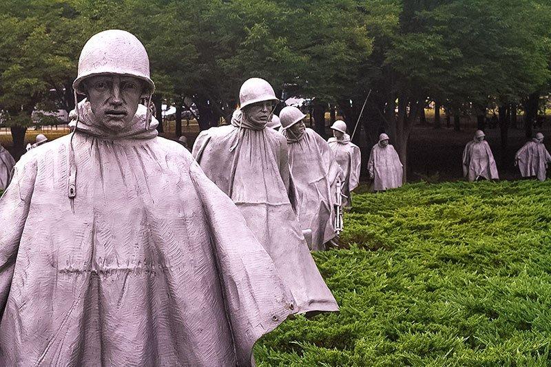 Washington-DC-Monuments-and-Memorials--Korean-War-Veterans-Memorial