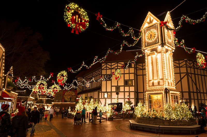 Virginia Christmas Lights- Busch Gardens, Williamsburg, VA