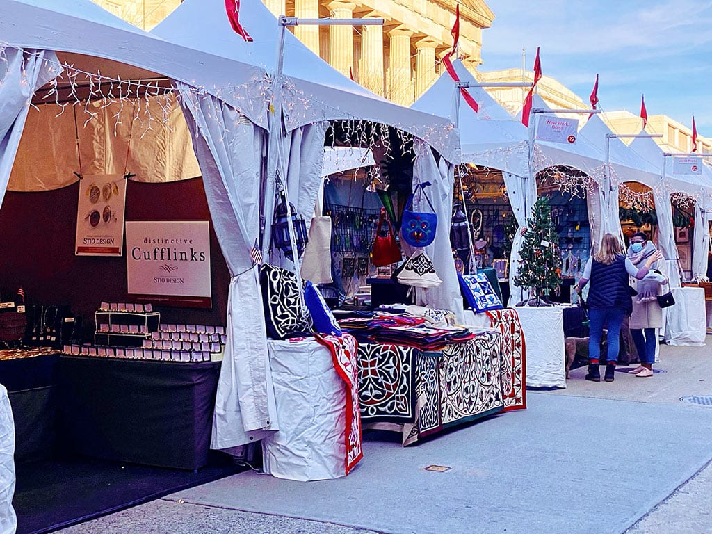 Christmas at the DC Downtown Holiday Market in Washington DC