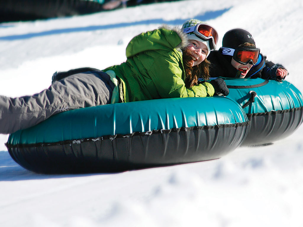 Omni Homestead Snow tubing in Virginia