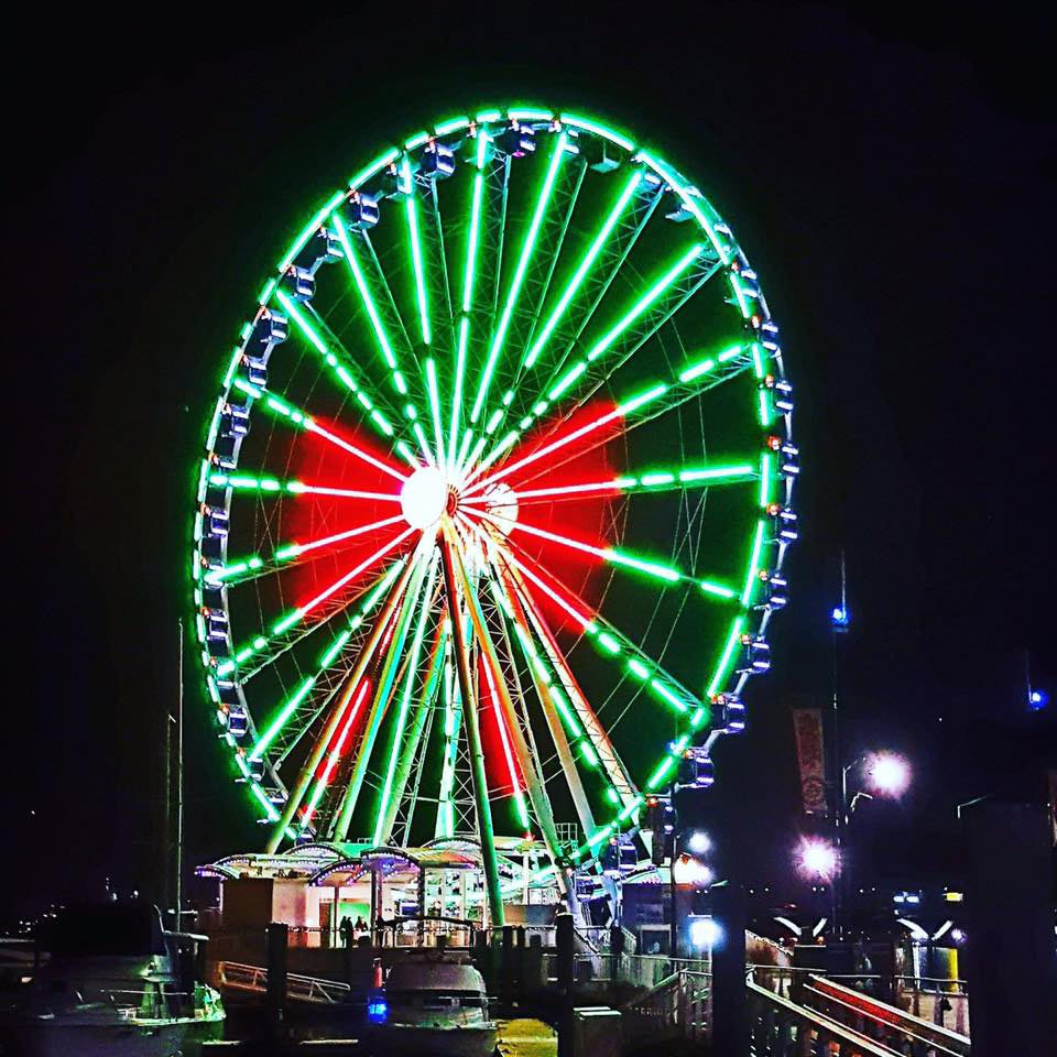 The Capital Wheel- Christmas Lights in Maryland