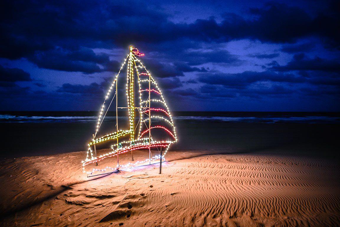 Christmas lights in Virginia Beach
