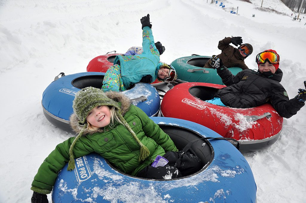 Snow tubing near DC Jack Frost and Big Boulder