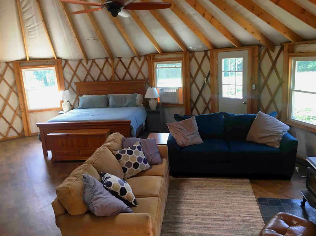 Glamping in Virginia - Enchanting Floyd Yurt