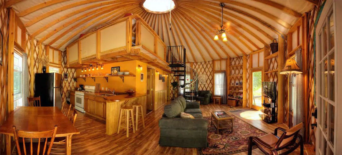 Glamping in Virginia - Floyd Yurt Lodging