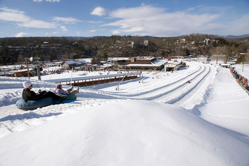 Snow tubing in Virginia Bryce resort