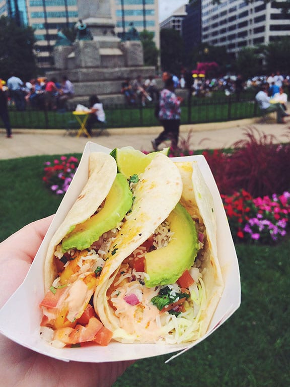 Food truck tacos in DC