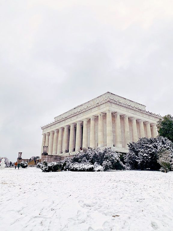 Washington DC Winter Snow