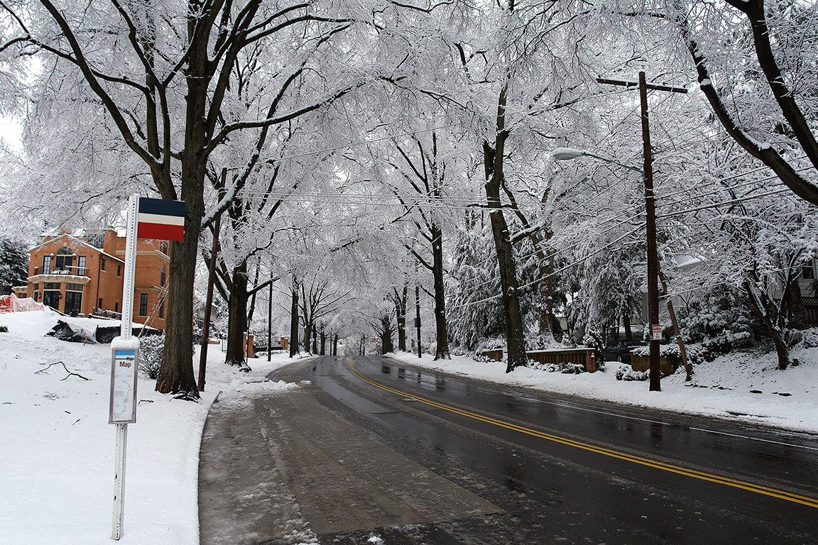 Washington DC Winter Snow- washington DC streets