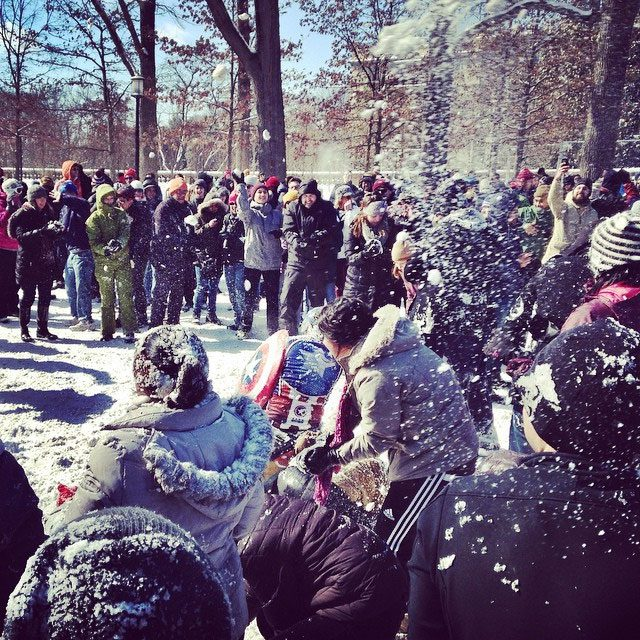 washington dc snowball fight