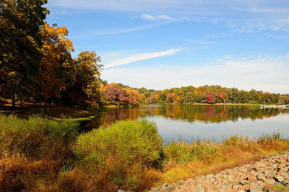 Lake Fairfax Park in autumn - Reston Virginia