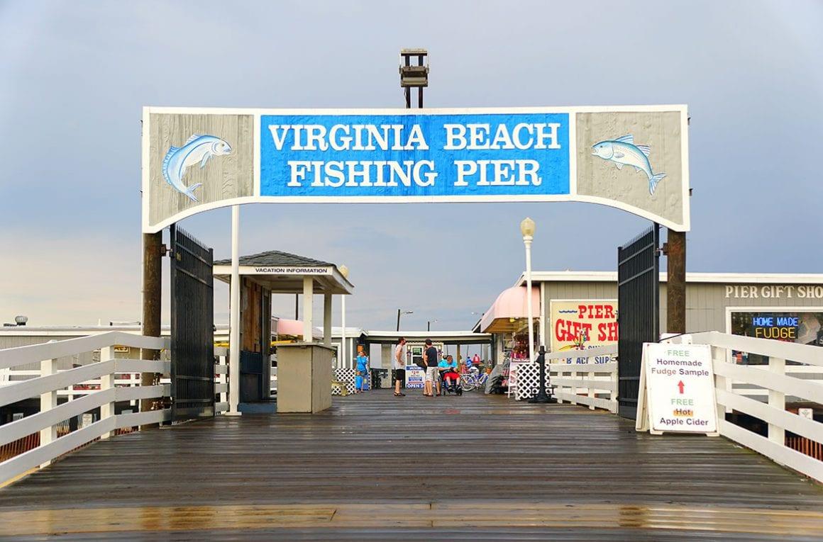 Virginia Beach Fishing Pier on the Virginia Beach Oceanfront in Virginia