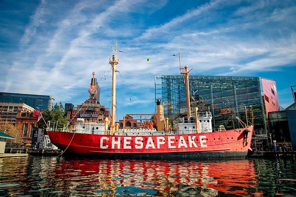 Baltimore historic ships- Harborlightship Chesapeake