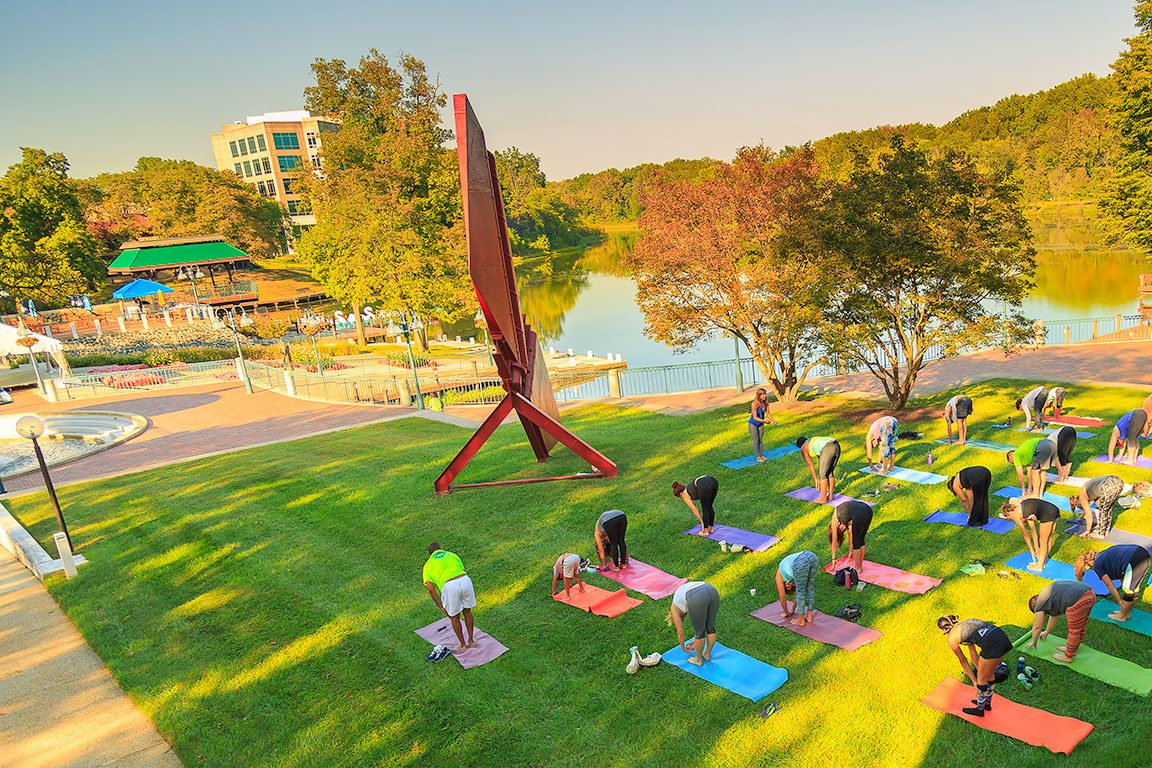 Yoga by the Lakefront in Columbia MD- Things to do in Columbia Maryland