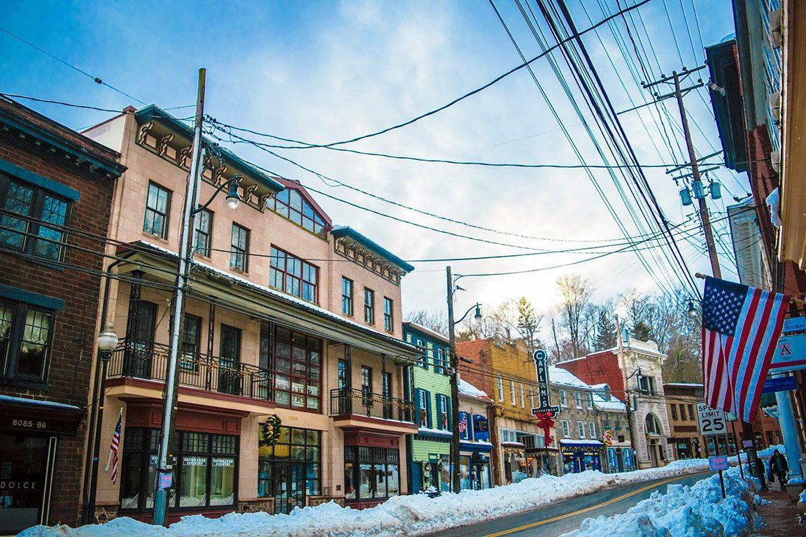 ELLICOTT CITY MD - Historic downtown Main Street