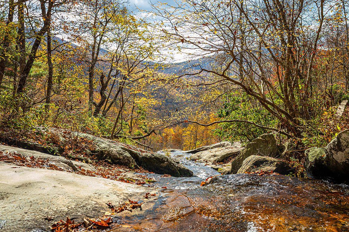 Appalachian Trail - Blue Ridge Parkway-Fallingwater Creek Falls in Virginia