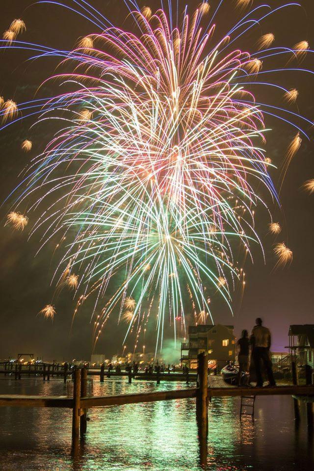 Chincoteague VA July 4th fireworks