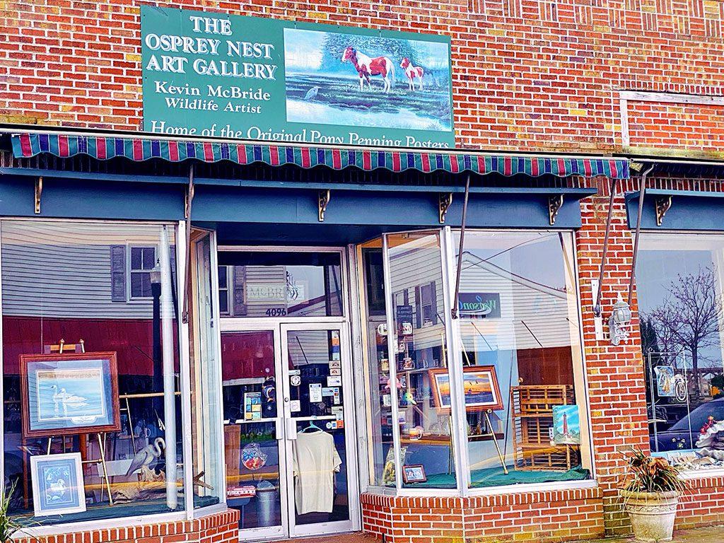 Chincoteague Island shops in Virginia