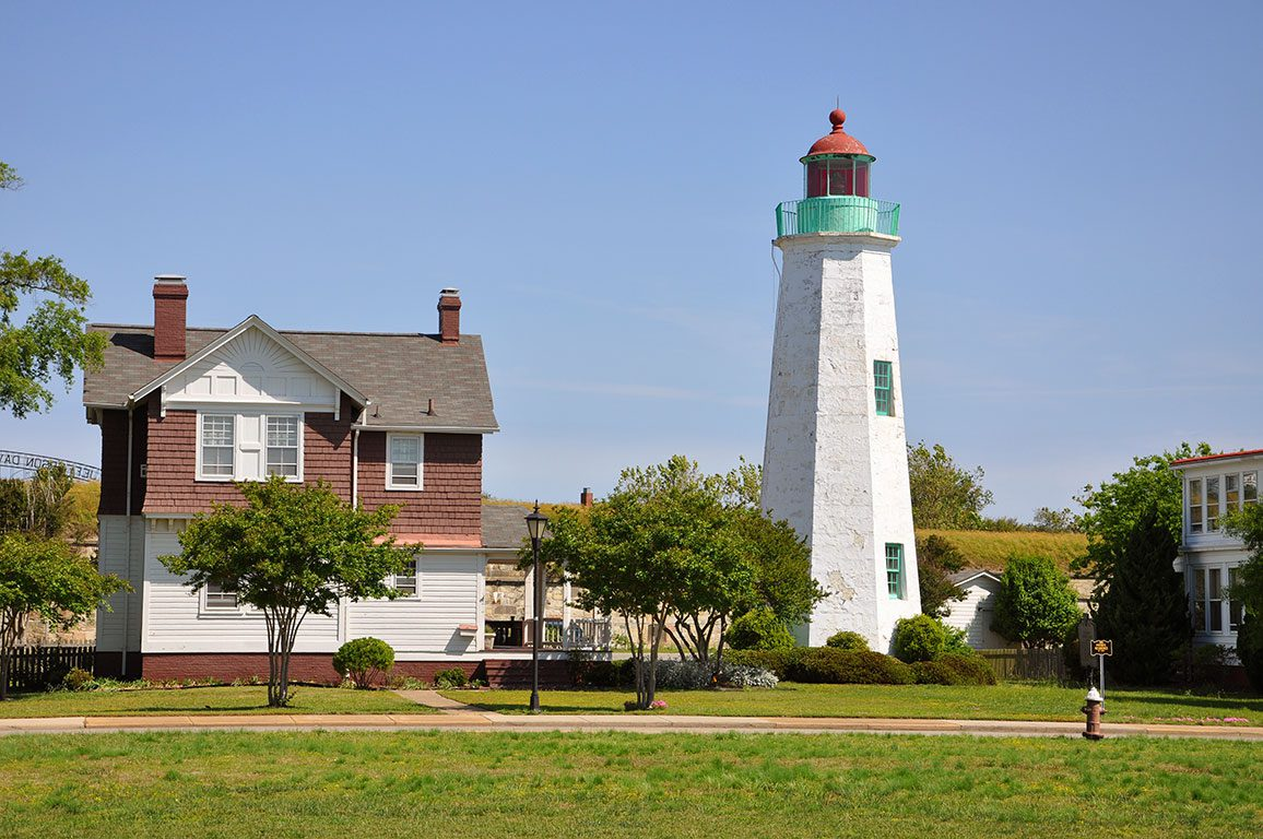 Virginia Lighthouses-Old Point Comfort Lighthouse