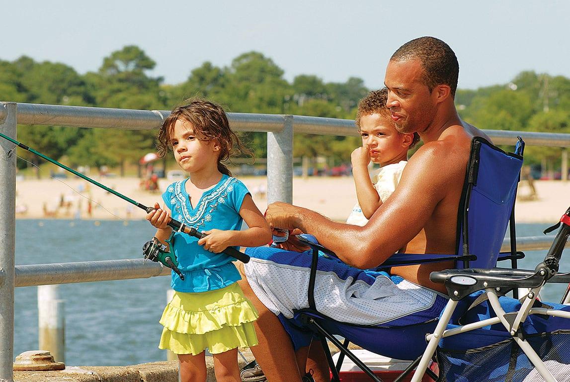 Fishing Pier on the James River in Newport News VA