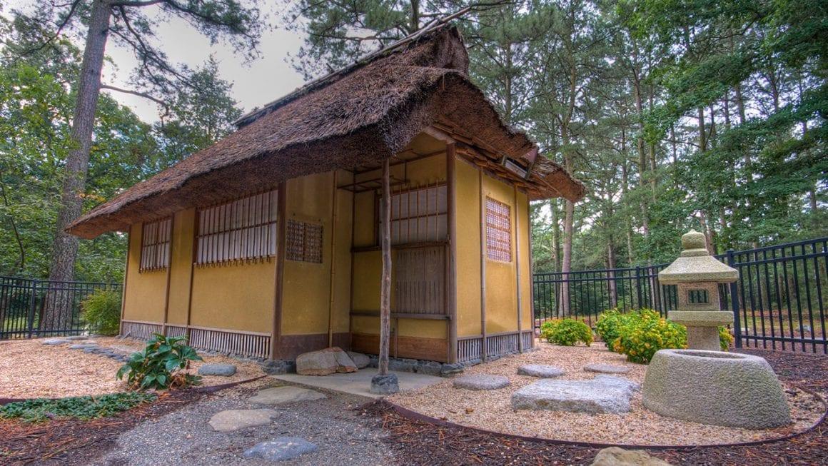 Japanese Tea House in Newport Beach Park in Virginia