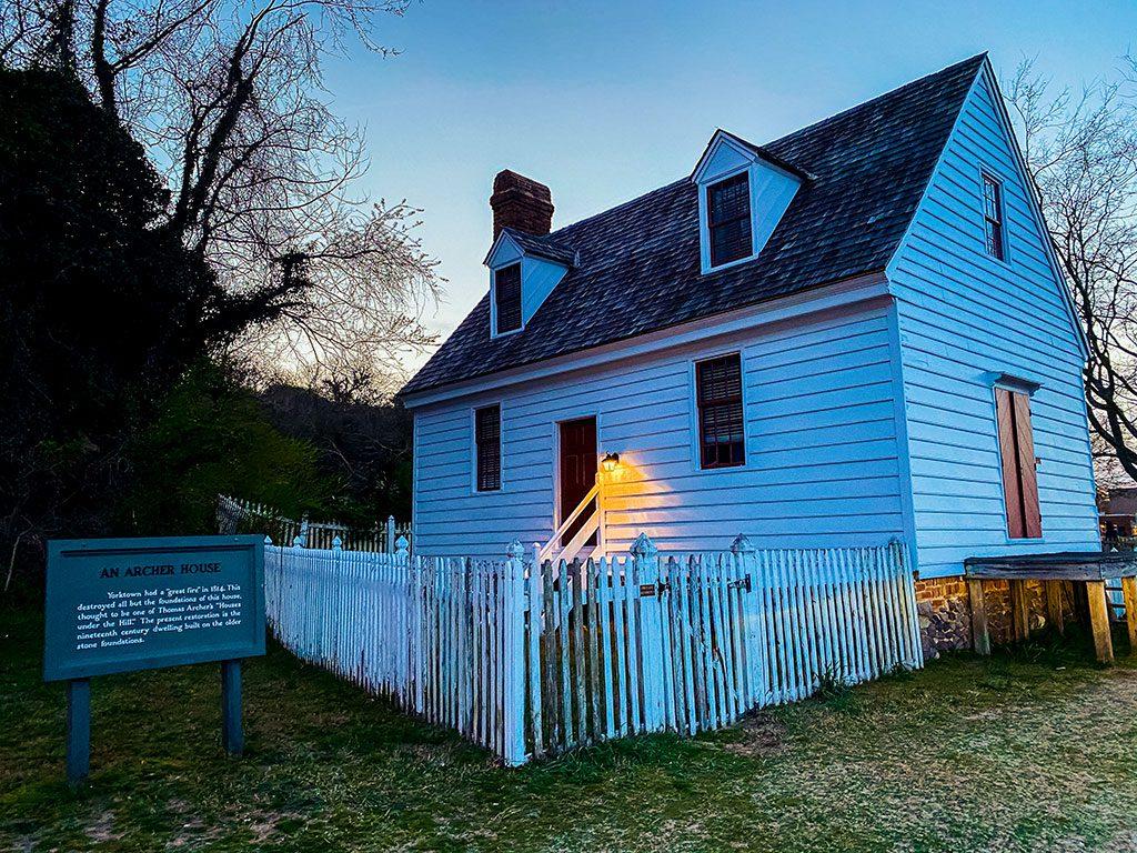 An Archer House in Yorktown Virginia