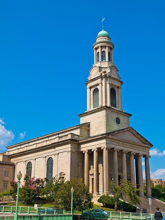 National City Christian Church around Washington DC Thomas Circle Park