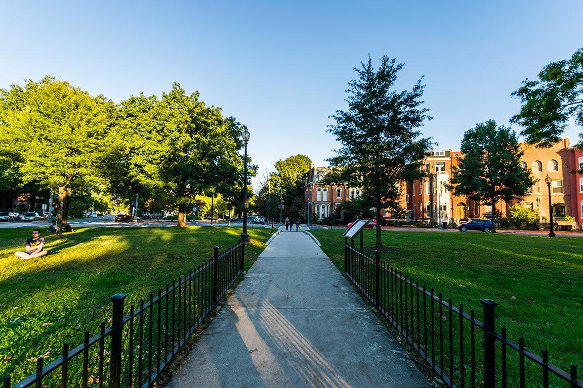 Logan Circle in Washington DC historic homes