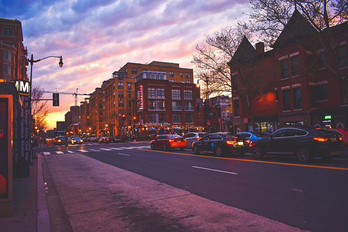 Sunset on U Street D.C.
