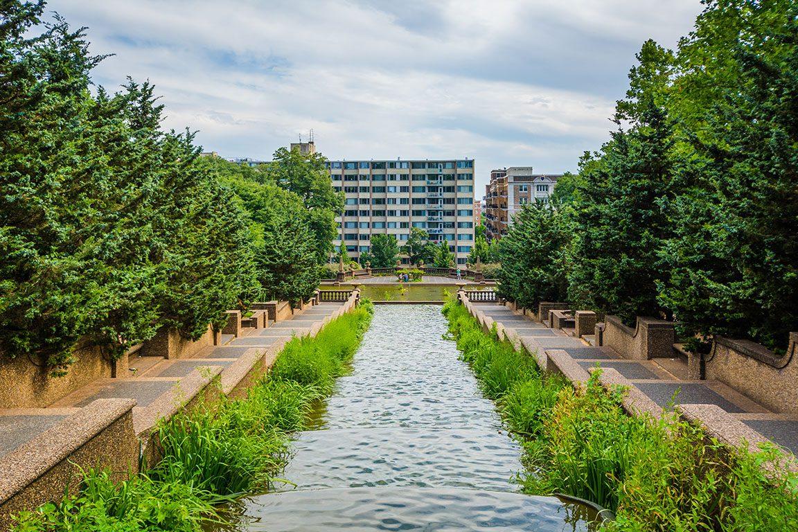 Meridian Hill Park in Washington DC - Cascading Fountain