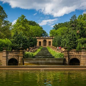 Meridian Hill Park in Washington DC - Cascading Fountain and Reflecting Pool