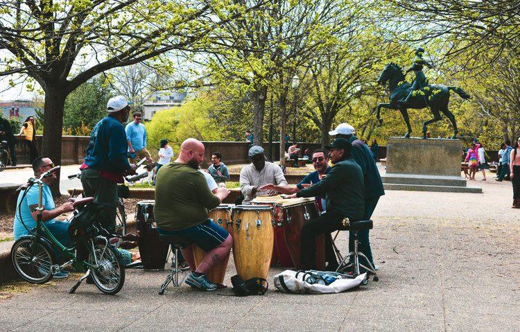 Meridian Hill Park - Malcom X Park Drum Circle in Washington DC