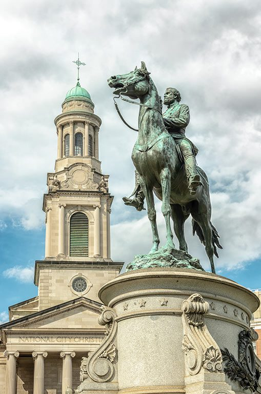 Parks in Washington DC- Thomas Circle Park- Major General George Henry Thomas equestrian sculpture