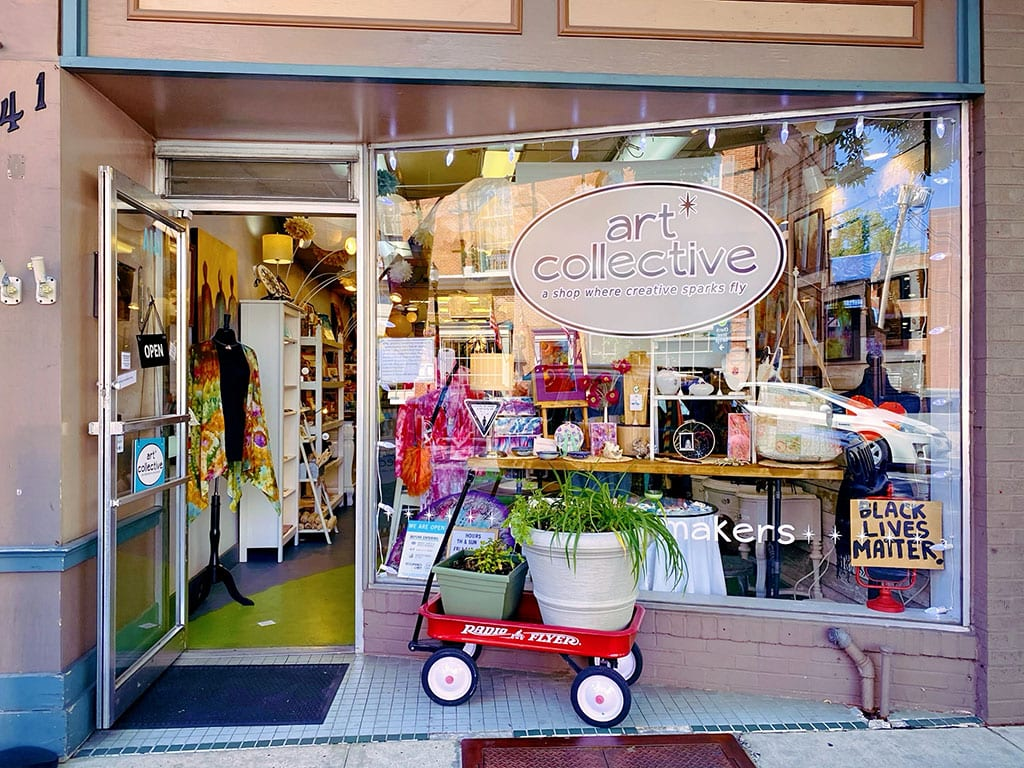 Shopping at The Art Collective in Frederick Maryland