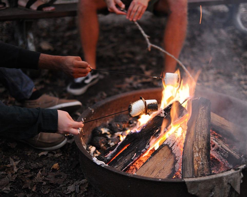 Campfire at Northwest River Park in Chesapeake VA