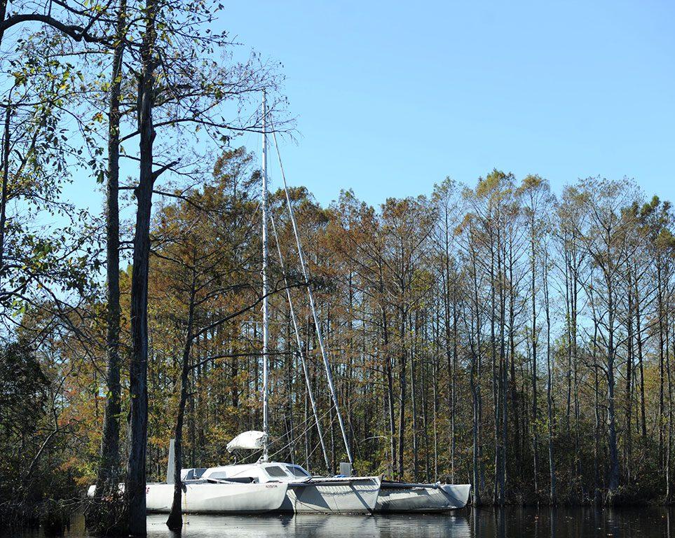 Sailing on the Northwest River Park in Chesapeake VA