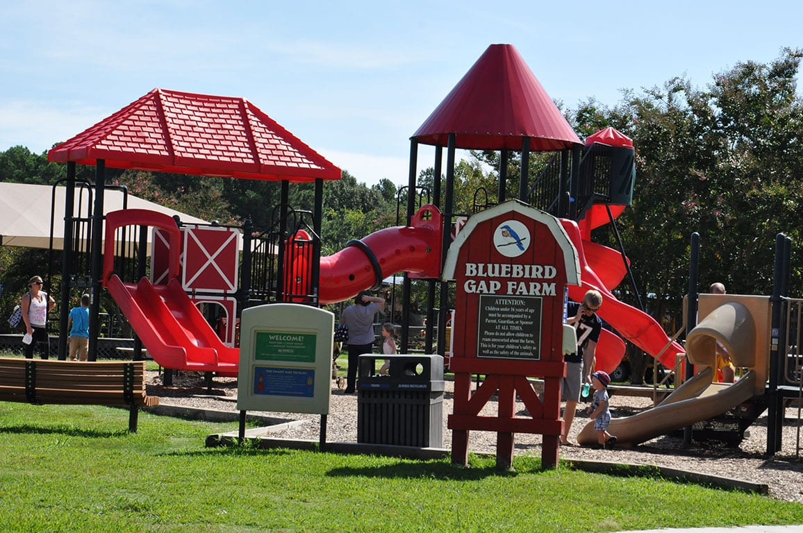 Playground at the Bluebird Gap Farm in Hampton Virginia