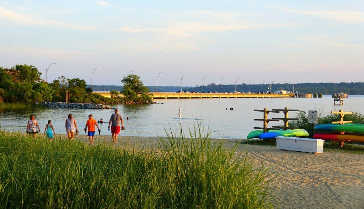 Jamestown Beach in Virginia