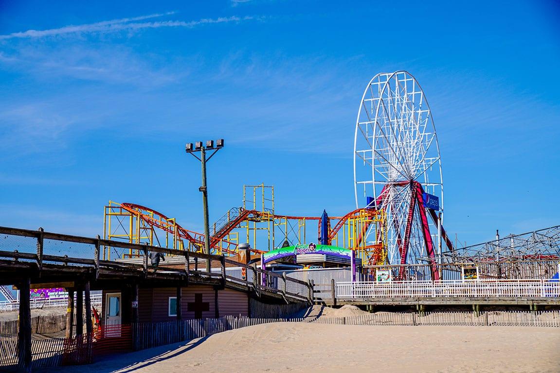 Ocean City boardwalk in Maryland