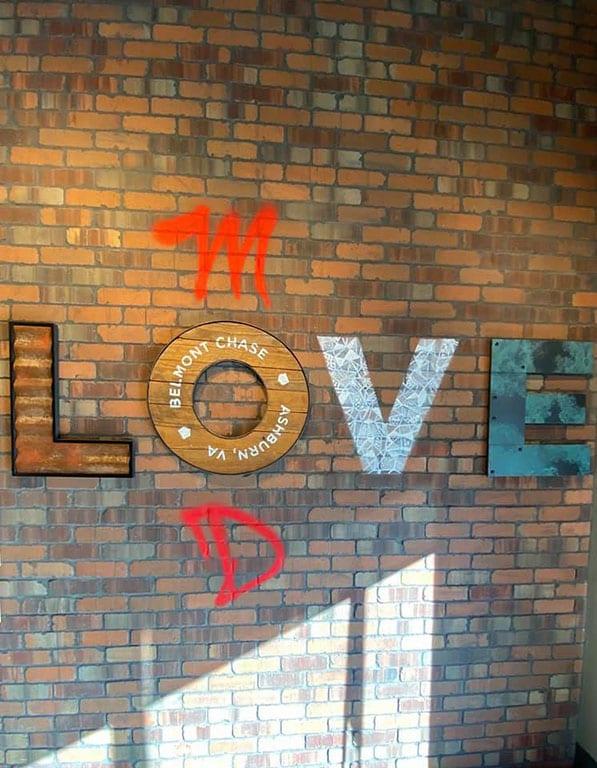 Virginia LOVE Signs in Ashburn VA