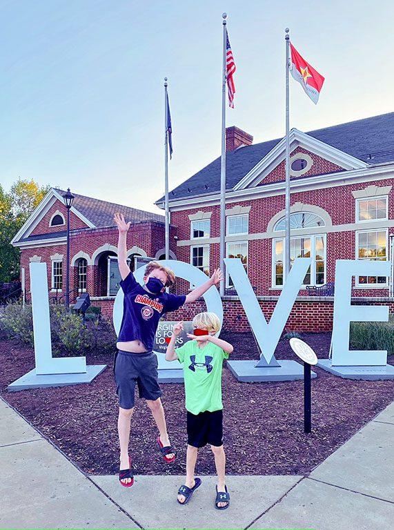 Fredericksburg VA Virginia LOVE sign welcome center