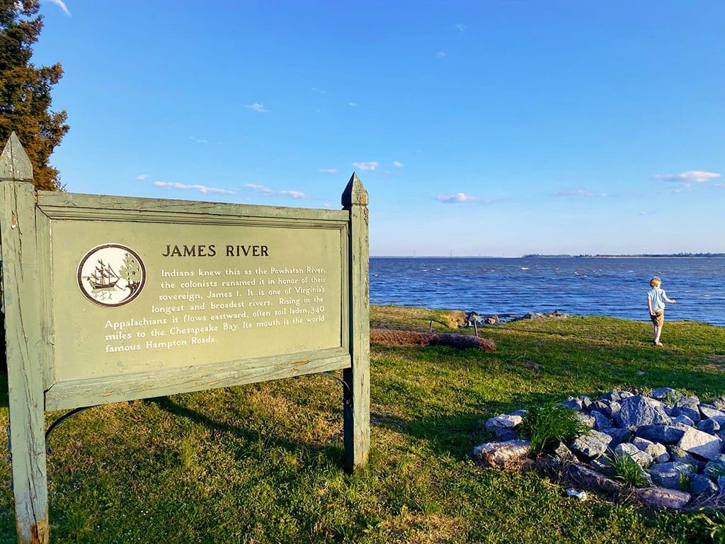 James River in Jamestown VA