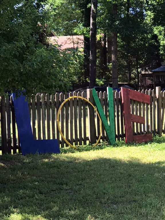 160 John Rolfe Lane Williamsburg VA LOVE sign