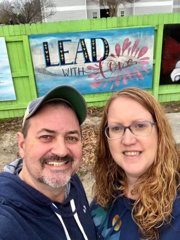 Community Fence in Virginia Beach VA LOVE sign