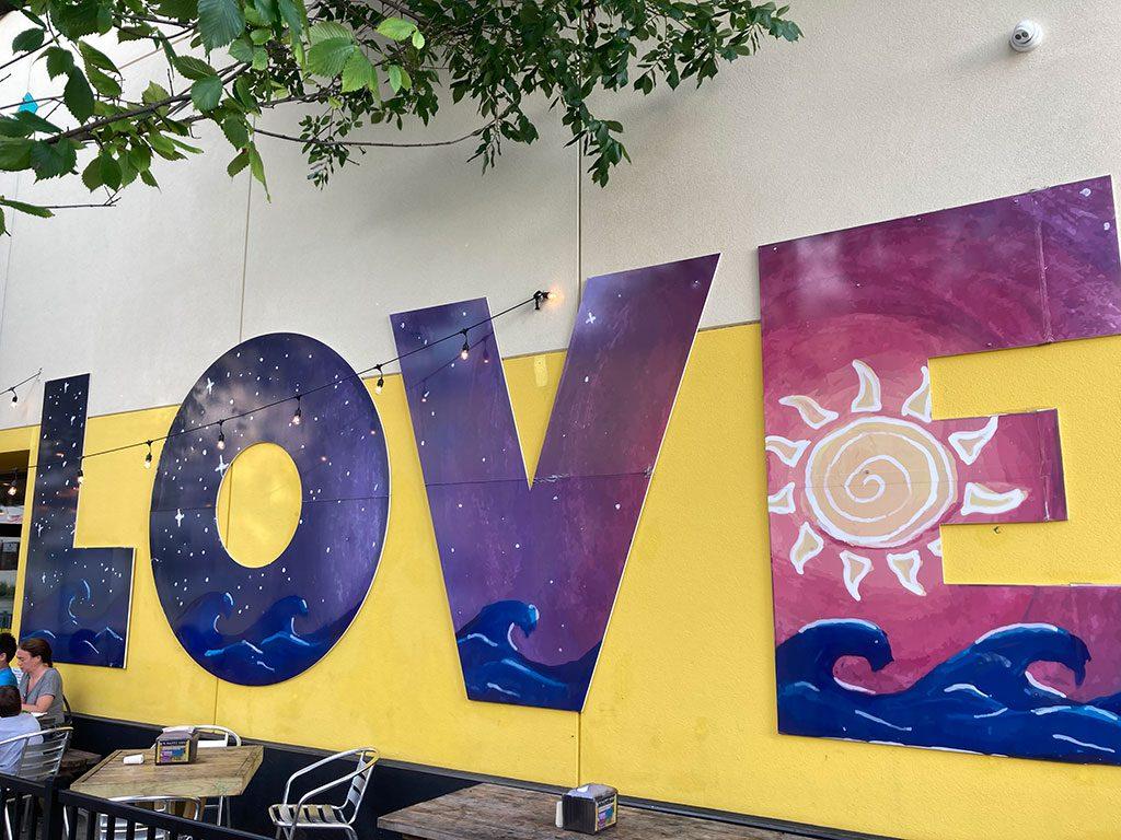Dough Boys LOVE sign - 3224 Atlantic Avenue Virginia Beach VA