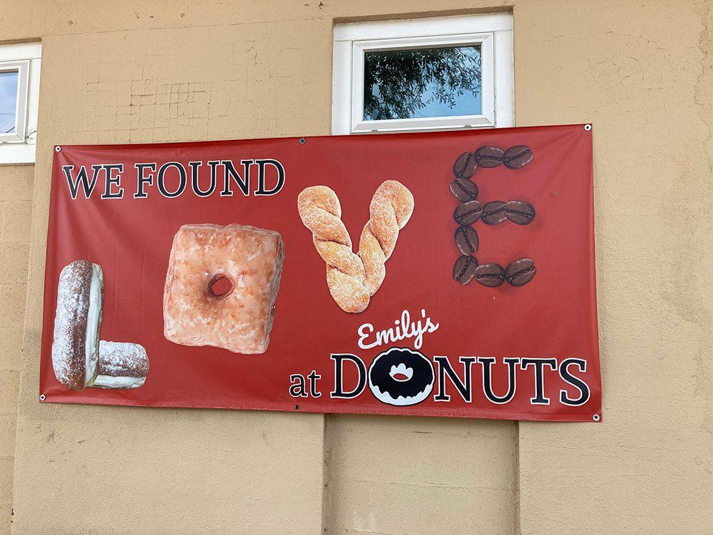 Emily's Donuts Love Sign VA