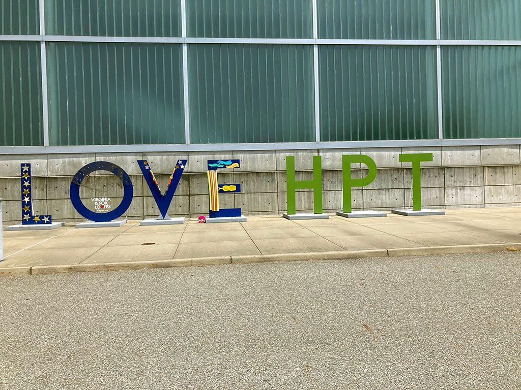 Hampton Roads Convention Center LOVE sign in Virginia