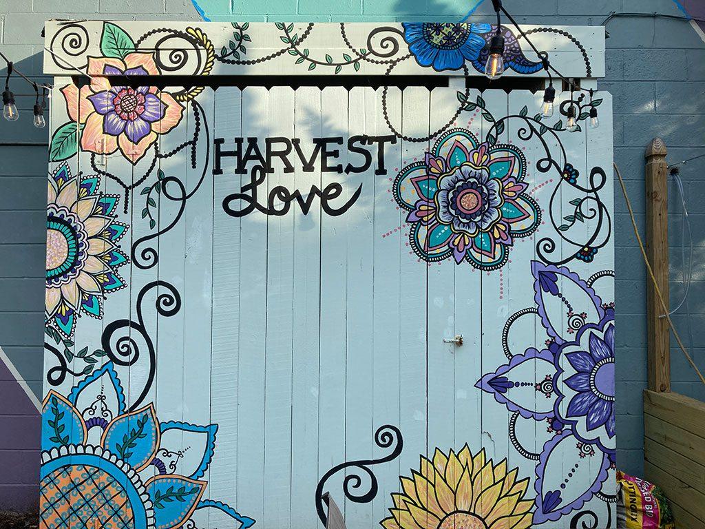 Harvest LOVE sign - 1718 Atlantic Avenue Virginia Beach VA