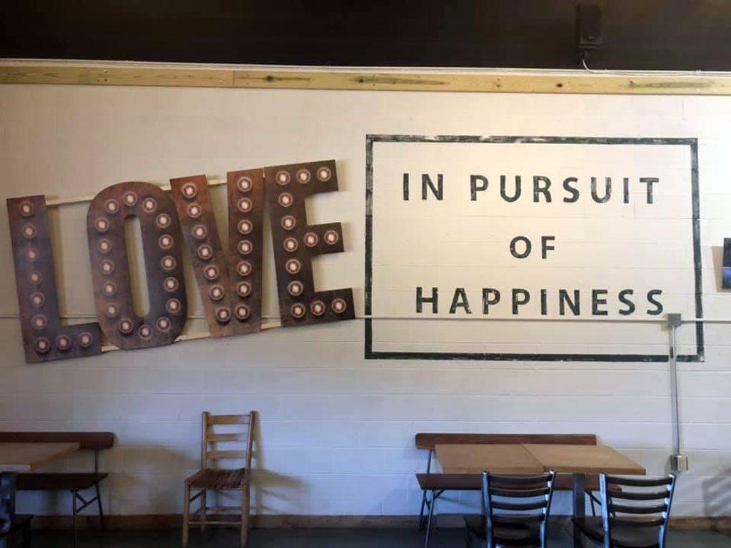 Highmark Brewery VA LOVE SIGN